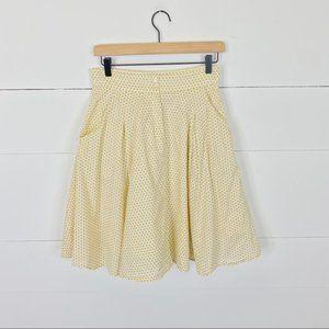 Comme Toi Cream Polka Dot Skirt Size M